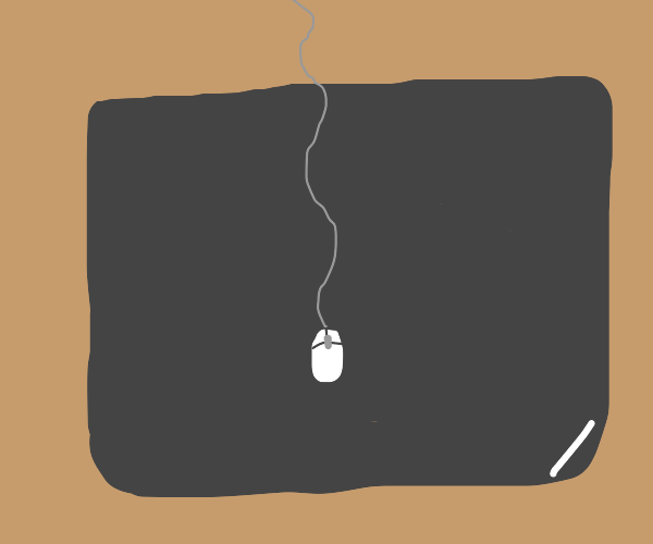 tiny mouse (or large mousepad?)