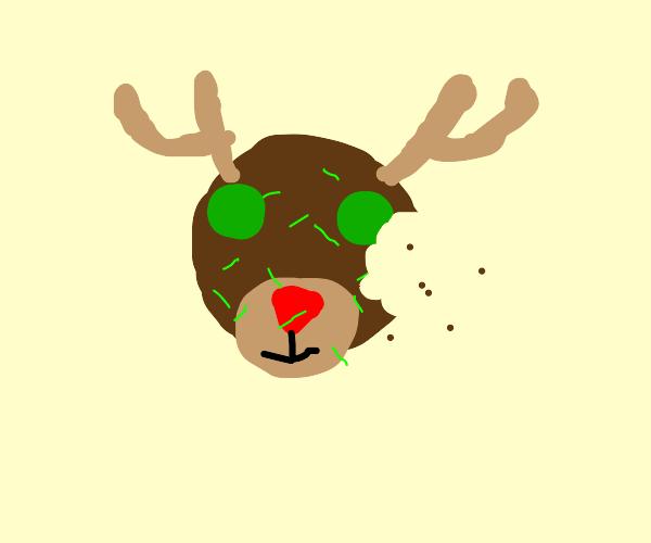 Reindeer Christmas Cookie