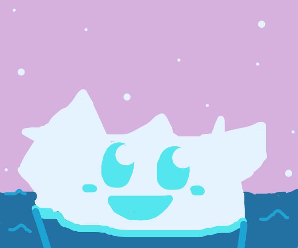 A very cute happy iceberg!