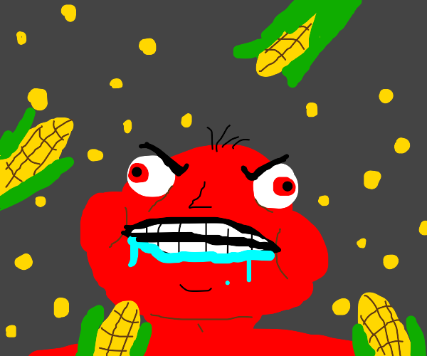 Man can't stand corn