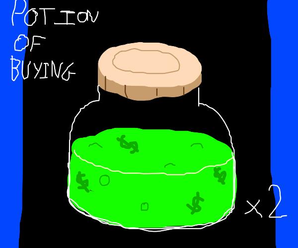 buying potion