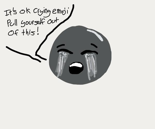 Emoji trying to comfort itself