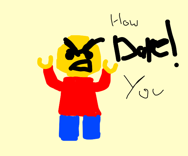 Enraged lego character