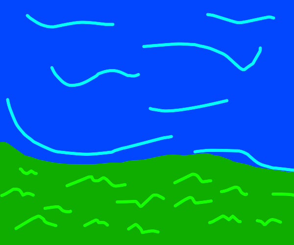 waves crashing on a grassy beach