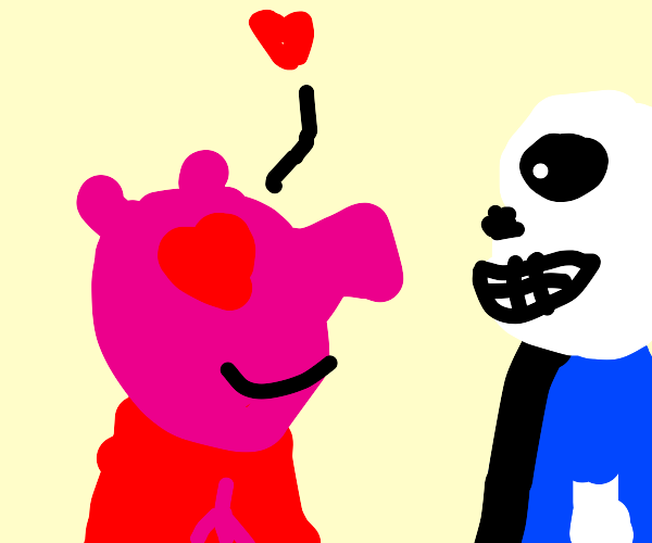 Oh, Peppa Pig Is A Sans Fangirl Now.
