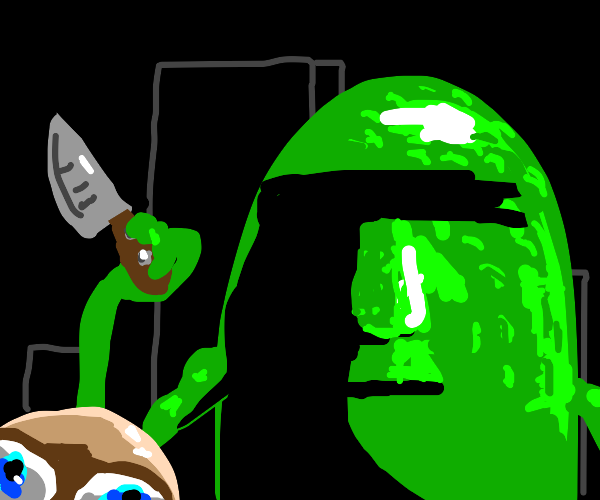 Giant pickle shanks man.
