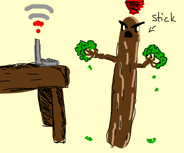 Stick is angry at lack of wifi