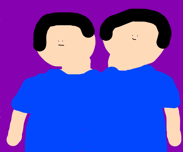 Two headed person