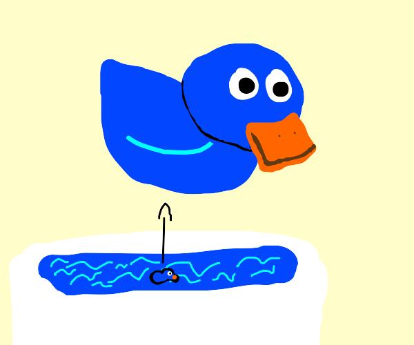Blue rubber duck