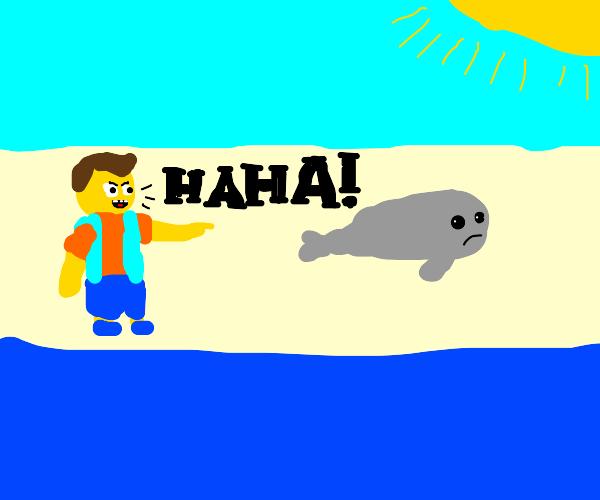 Bullied seal