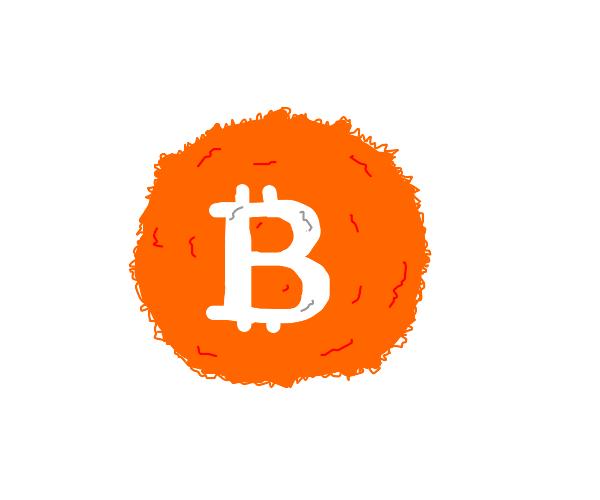 Fuzzy bitcoin logo