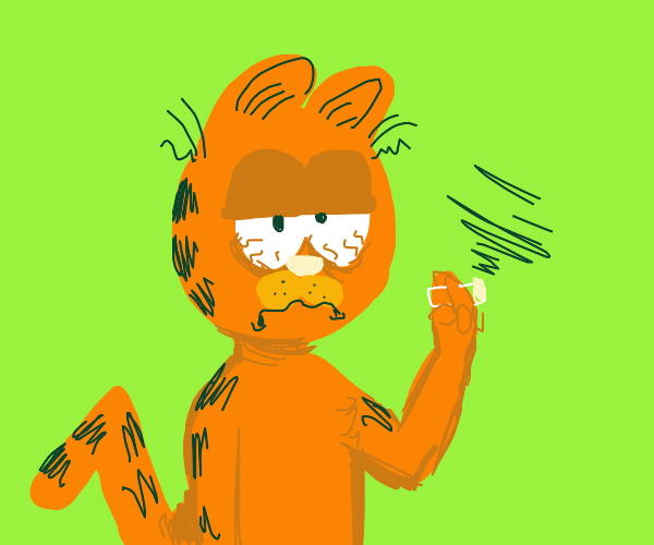 Garfield is high
