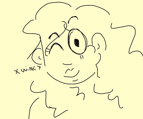 Lady winking