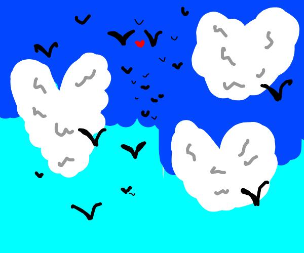 Cloud hearts