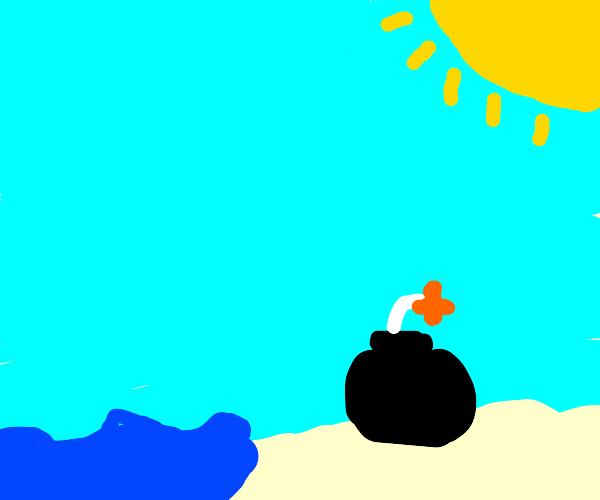 bomb on the beach
