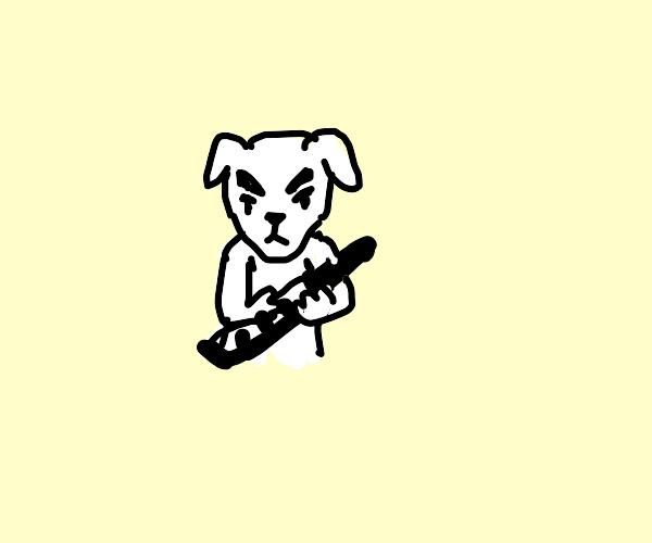 KK slider jammin' out on a keytar!