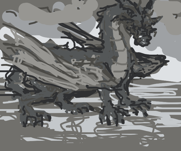 A scribbly dragon