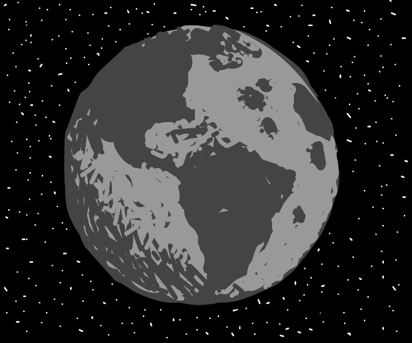 moon but with earth continents