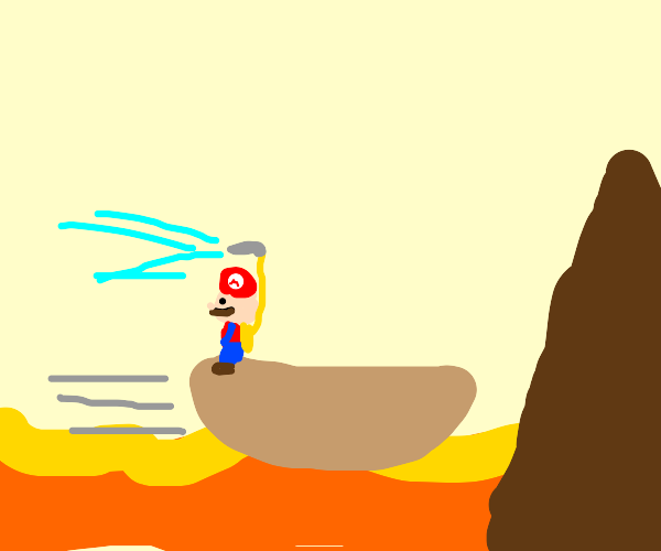 Boat in a lava river