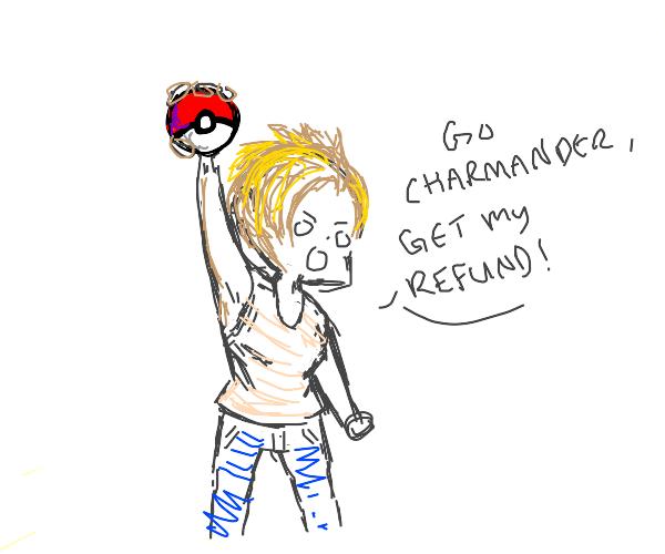 karen holds a pokeball