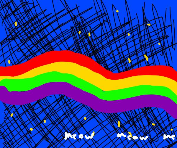 Nyan Cat Rainbow Trail