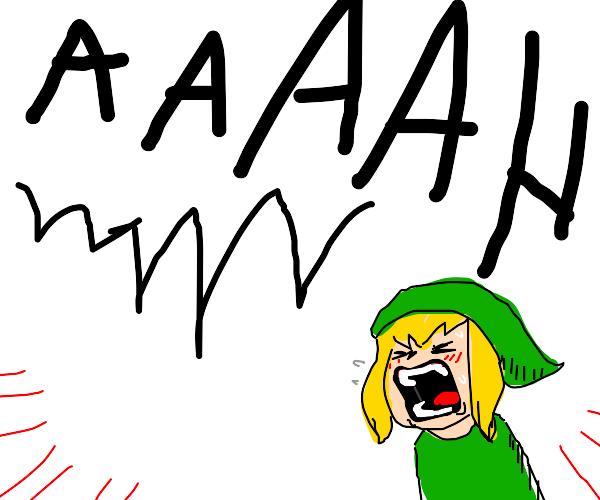 Link Screams REALLY loudly