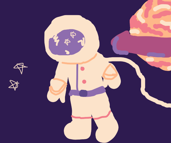 astronaut lol-s in space
