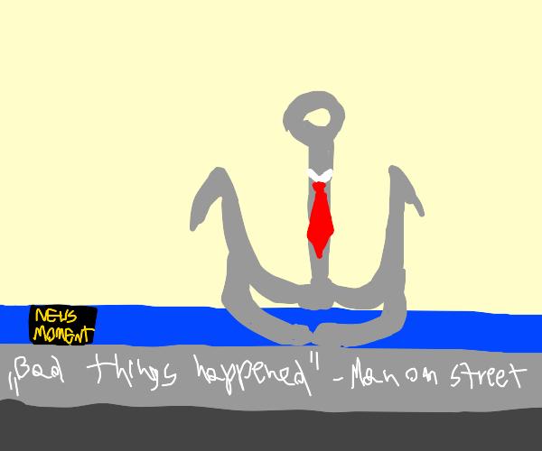 News with an actual anchor+a tie