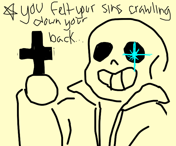 Sans is a proud Christian.