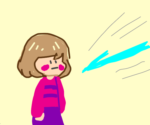 Chara and frisk share a body, its an arrow.