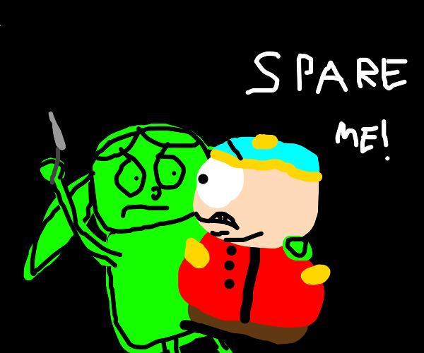 green girl tries to kill eric cartman