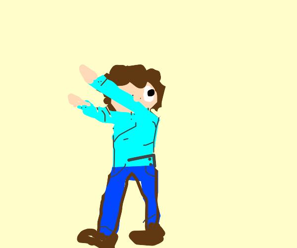 Jon Arbuckle dabbing