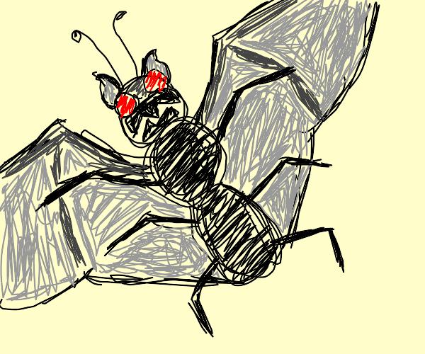 BatXbug creature from a nightmare