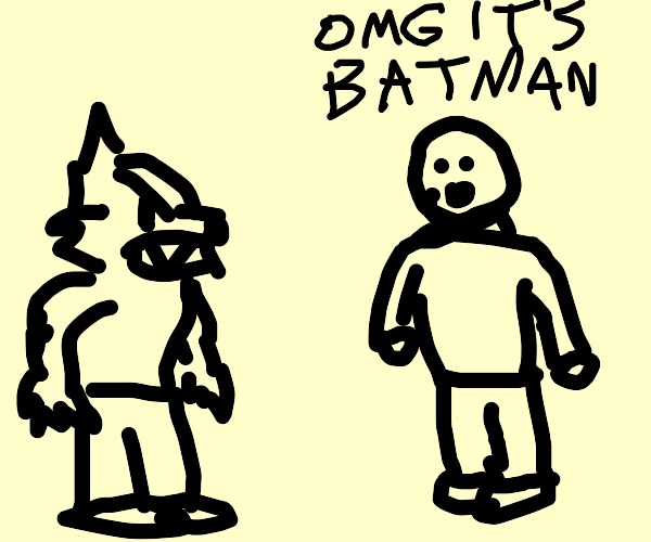mistaking wolf-person for batman