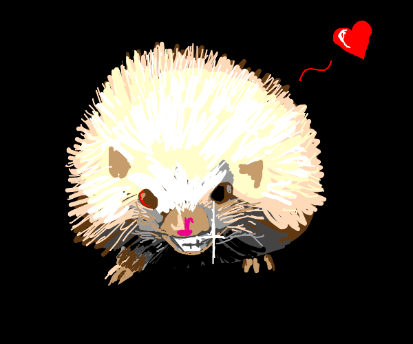 Just a smilin' hedgehog