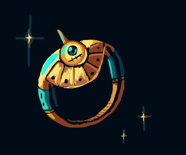 Ring with a face in space