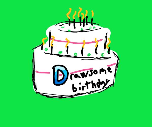Drawception birthday cake