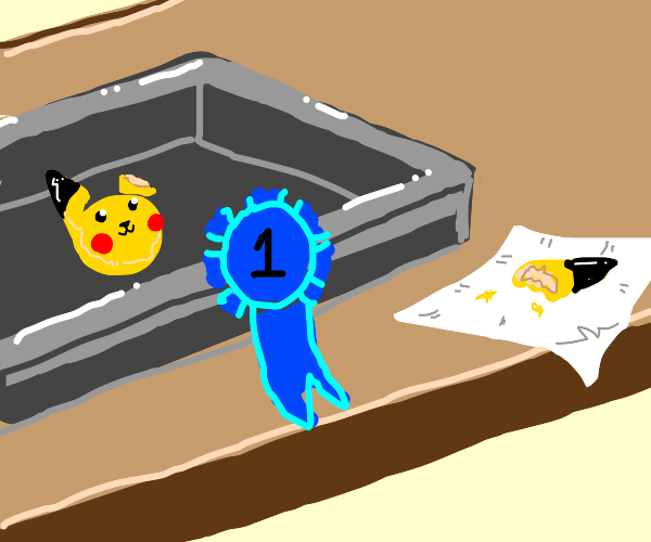 pikachu cookie wins first place