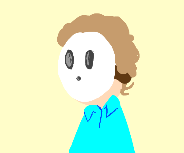 shy guy from mario but its jon arbuckle