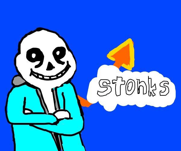 SANS X STONKS MEME