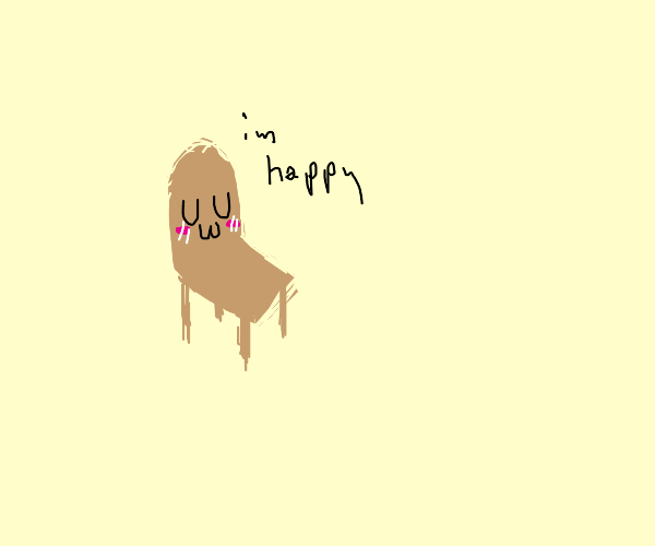 Kawaii happy chair