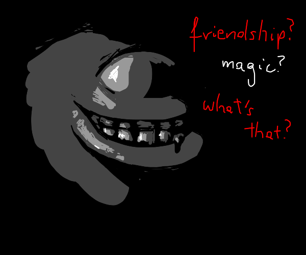 horrifying my little pony character