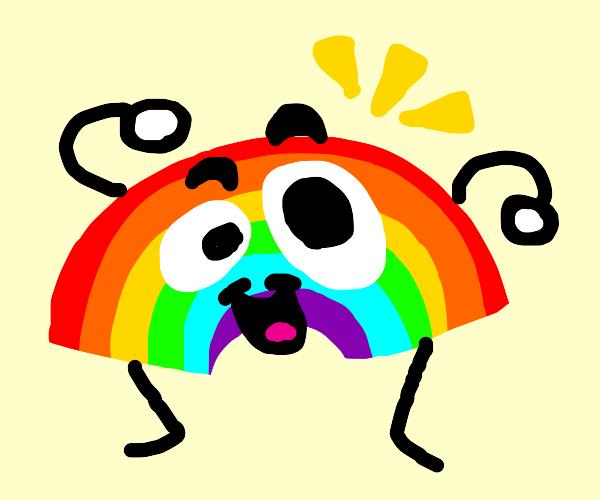 goofy rainbow