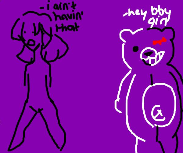 Daganronpa bear fails to seduce me