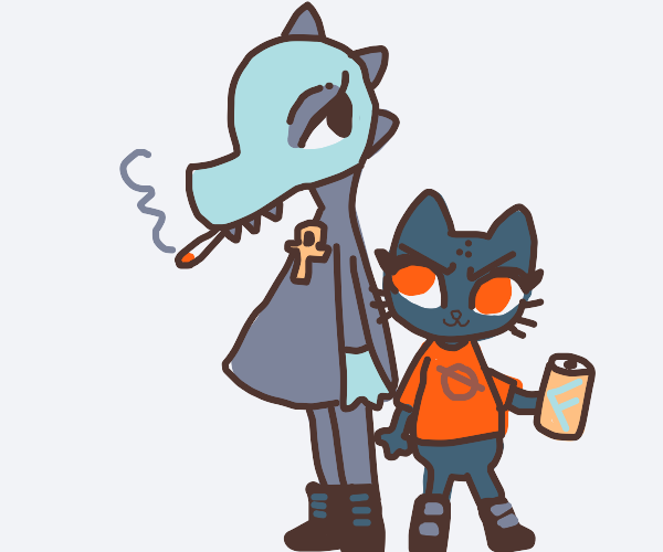 Mae and Bea from night in the woods