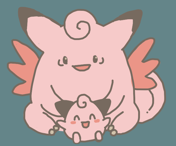 Cleffa + Clefable