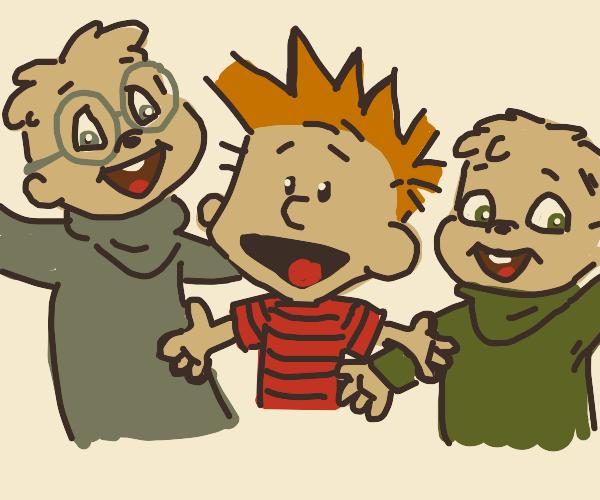 Calvin, Simon and Theodore.
