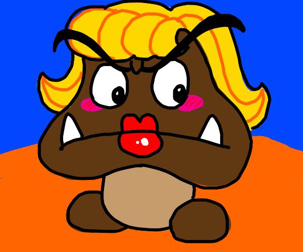 Blonde goomba is unimpressed