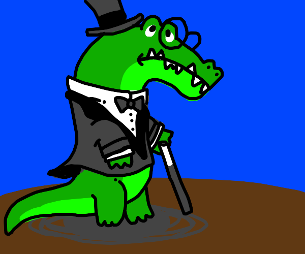 Dissapointed fancy alligator