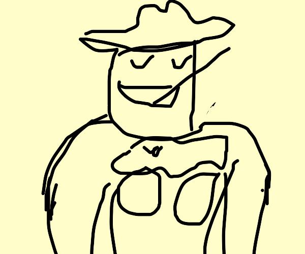 A buff hillbilly in a Monster Truck Shirt